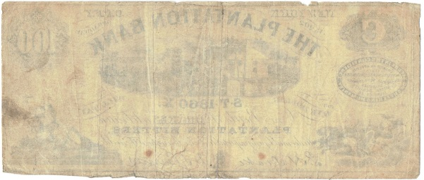 1860 One Dollar Broken Bank Note