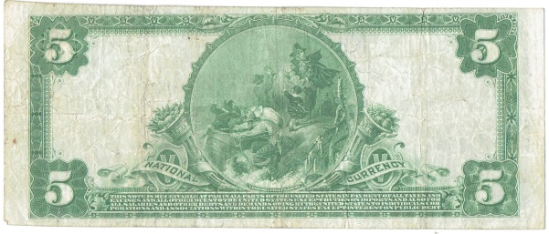 1902 Five Dollar National Currency