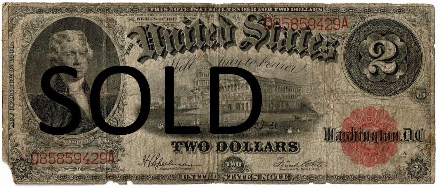 1917 Two Dollar United States Note