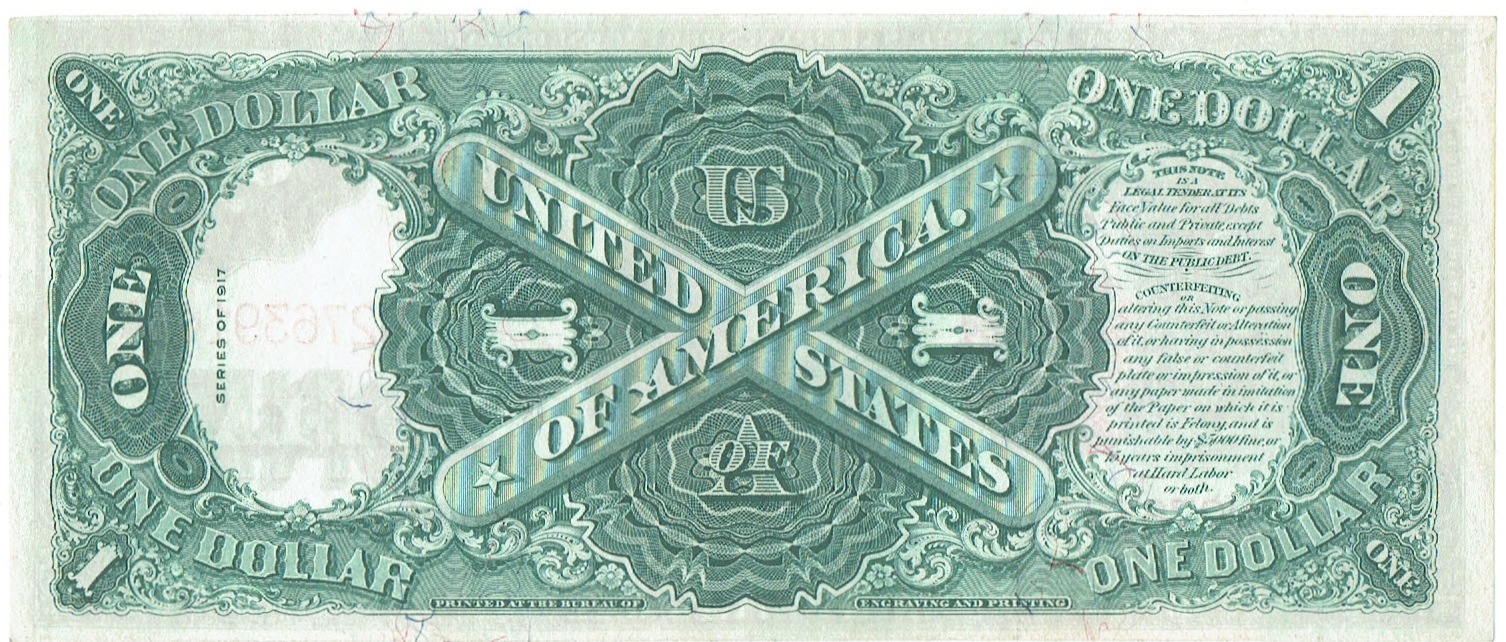 1917 one Dollar United States Note