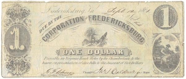 1861 One Dollar Script