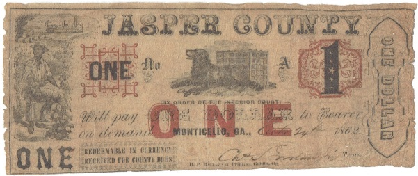 1862 One Dollar Script Note