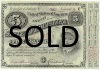 Series 1876 Five Dollar Louisiana Baby Bond