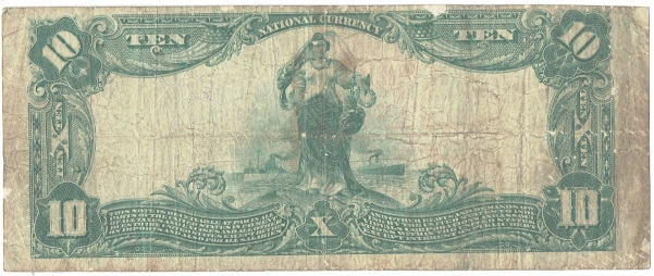 1902 Ten Dollar National Currency