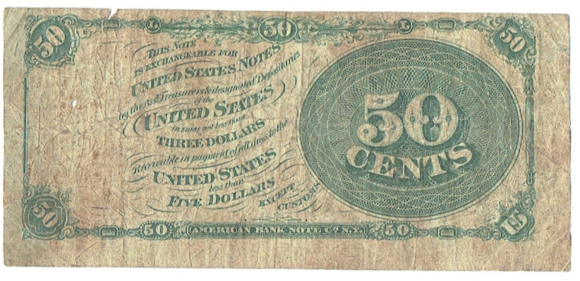 1862 twenty five cent fractional currency