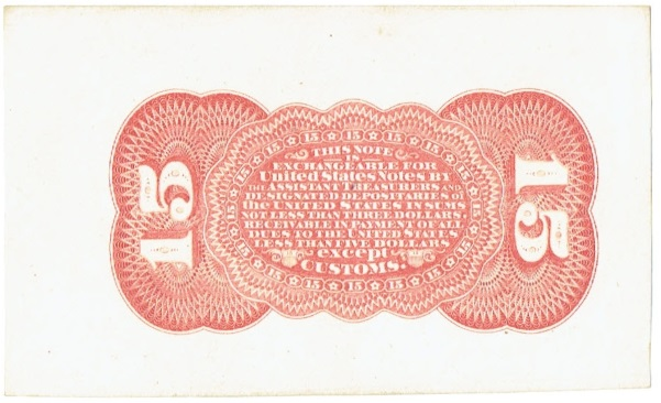 1863 fifteen cent proof fractional currency