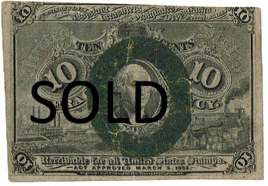 1863 Ten Cent Fractional Currency