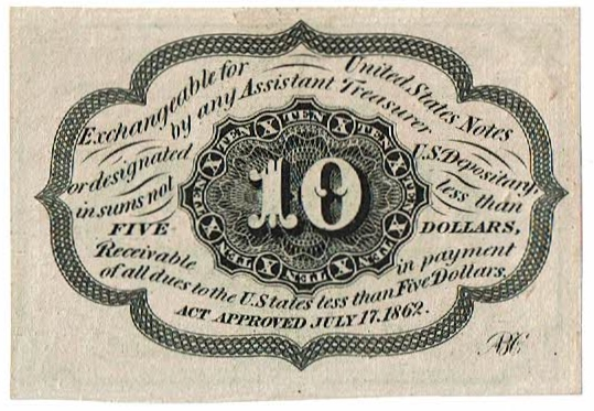1874-6 Ten Cent Fractional Currency