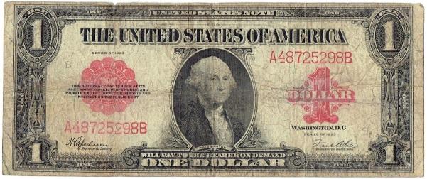 1923 One Dollar United States Note