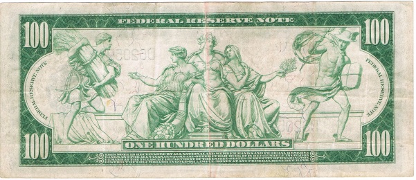 1914 one hundred dollar federal reserve note
