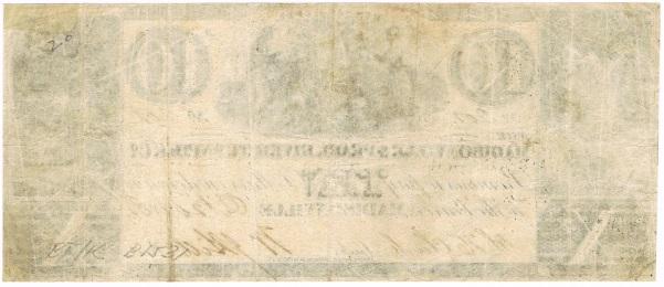1838 Ten Dollar Script