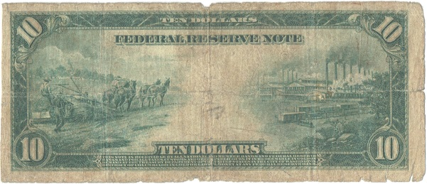 1914 Ten Dollar Federal Reserve Note