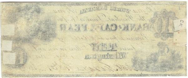1855 Ten Dollar Script