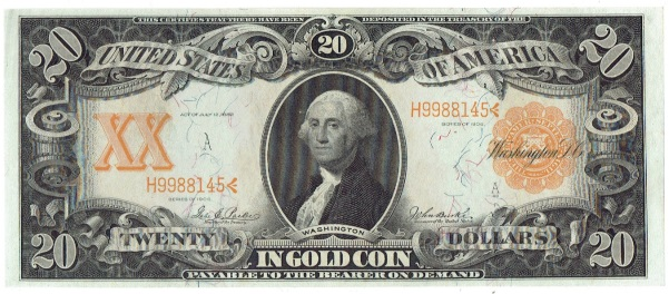 1906 Twenty Dollar Gold Certificate