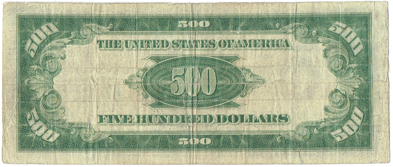 1928 Five Hundred Dollar Federal Reserve Note
