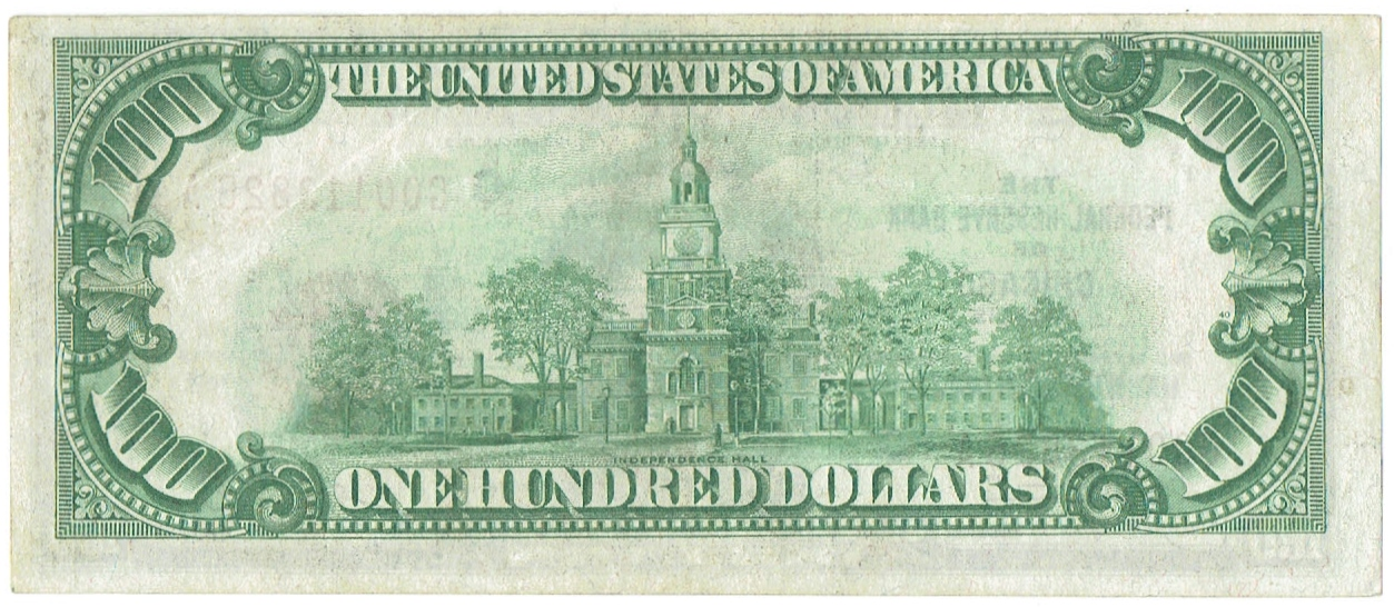 1929 One Hundred Dollar Federal Reserve Bank Note