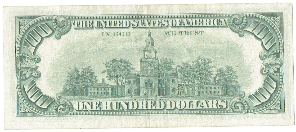 1966 One Hundred Dollar United States Note