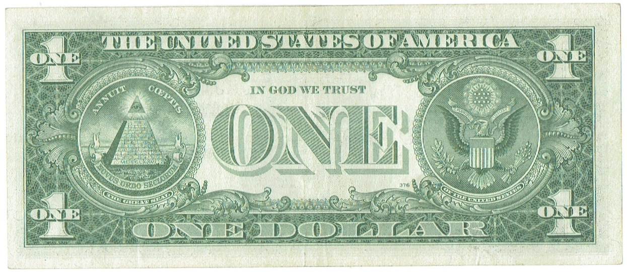 1957 A one dollar silver certificate