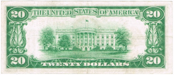 1928 twenty dollar gold certificate