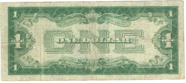 1928 one dollar silver certificate