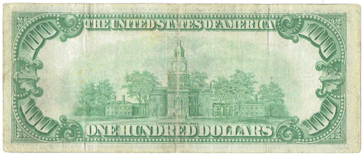 1928 One Hundred Dollar United States Gold Certificate