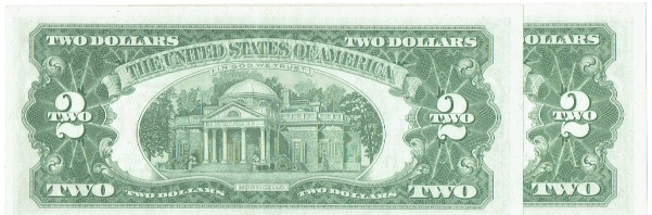 (2)1963 two dollar united states note