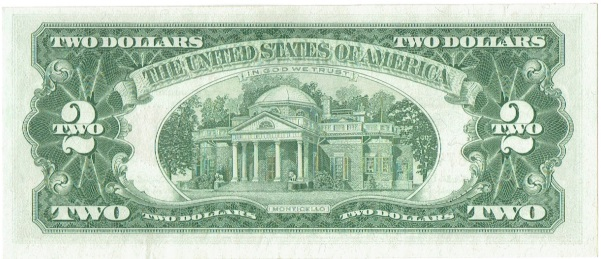1963 two dollar united states note