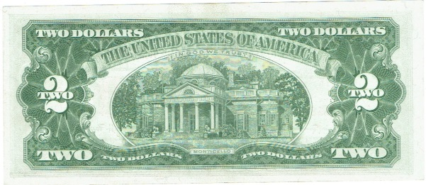 1963A two dollar united states note