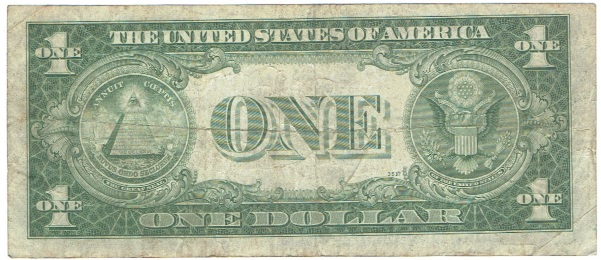 1935 A one dollar silver certificate north africa