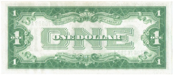 1928 A One Dollar  Silver Certificate Funnyback