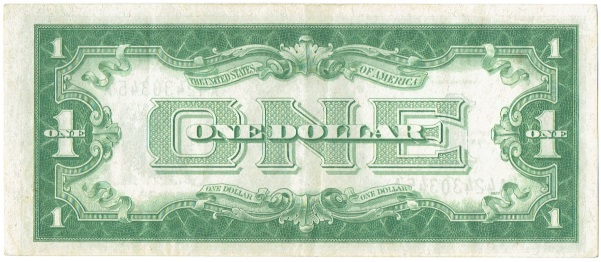 1928 One Dollar  Silver Certificate Funnyback