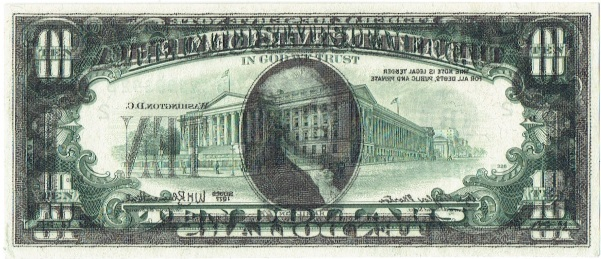 1977 ten dollar federal reserve note error