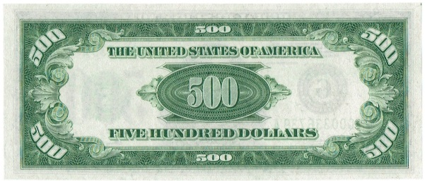 1934 A Five Hundred Dollar Federal Reserve Note