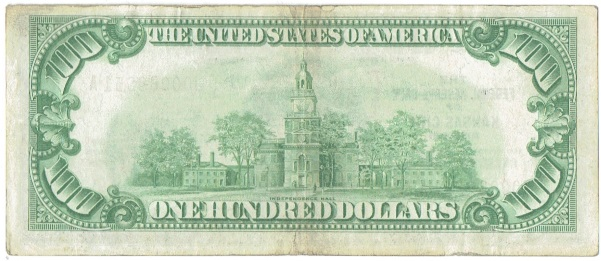 1929 one hundred dollar national currency