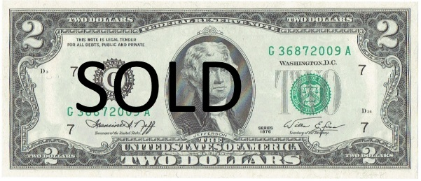 1976 Two Dollar Federal Reserve Note