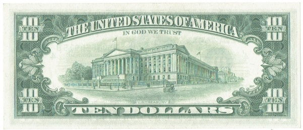 1969 C ten dollar federal reserve note