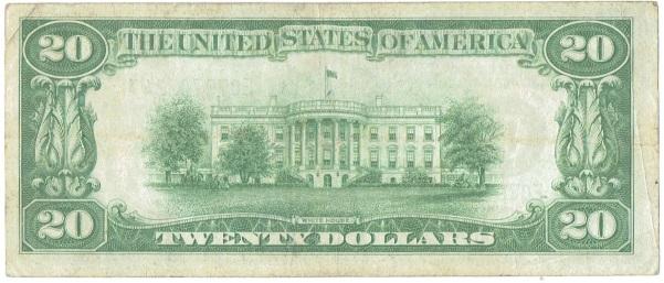 1928 B twenty dollar federal reserve note