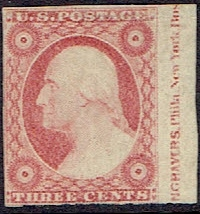 1851 US #11 Three Cent Dull Red Washington