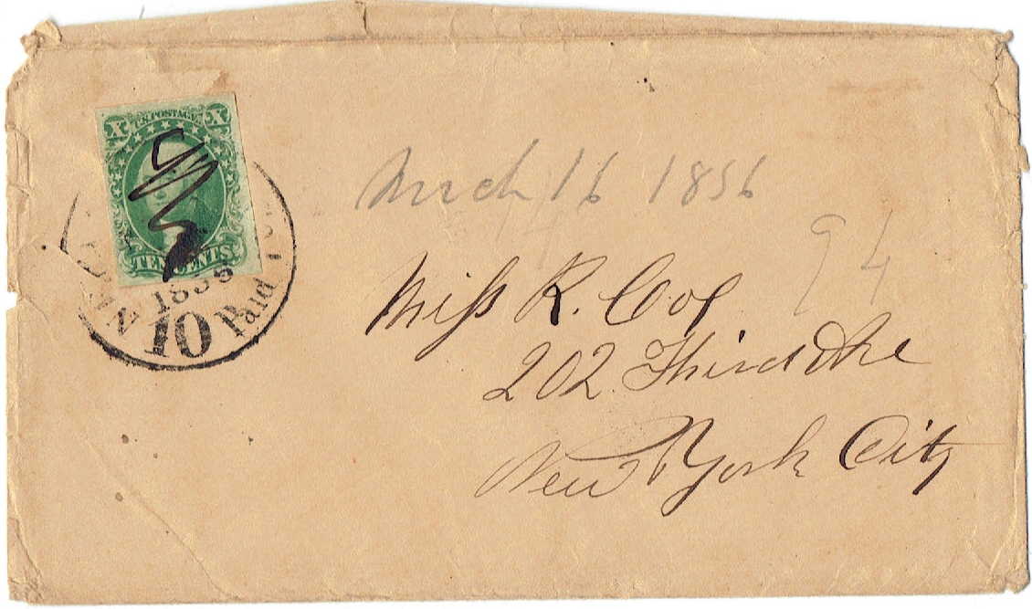 1851 US #14 Ten Cent Green Washington