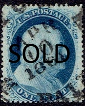 1857 US #23 One Cent Blue Franklin