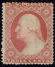 1857 US #26 Three Cent Dull Red Washington