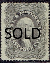 1860 US #37 Twenty Four Cent Gray Lilac Washington