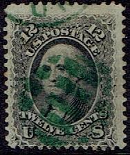 1861 US #68 Twelve Cent Black Washington