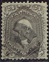 1862 US #78 Twenty Four Cent Lilac Washington